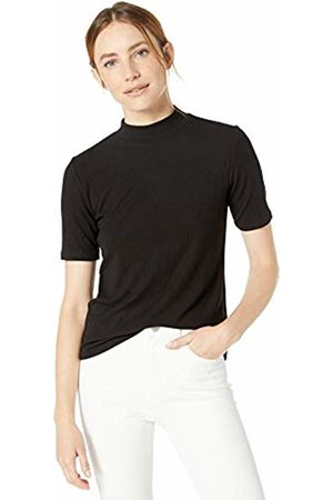 The Drop Women's Joanna Short Sleeve Mock Neck Ribbed T-Shirt