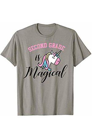 Hadley Designs Second Grade is Magical Unicorn Back To School Cute T-Shirt