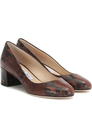 Jimmy choo Jessie 40 snake-effect leather pumps