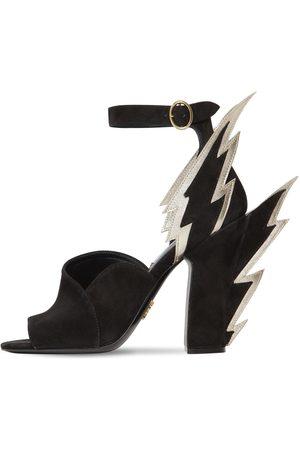 Prada 105mm Embellished Suede Sandals