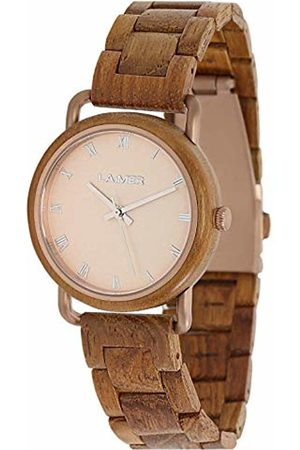 Laimer Womens Analogue Quartz Watch with Wood Strap 114