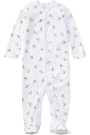 Ralph Lauren Baby Bodysuits & All-In-Ones - Baby Girls Classic Bear Print All In One