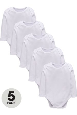 Very Baby Unisex 5 Pack Long Sleeve Bodysuits