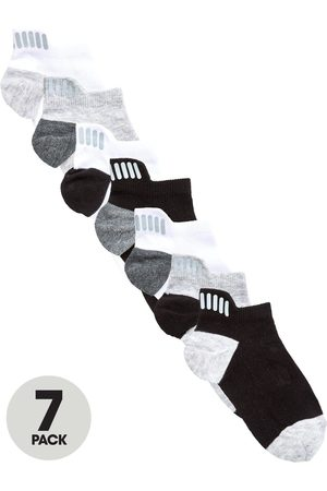 Very 7 Pack Trainer Liner Socks With Reflective Strip Detail
