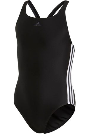 adidas Girls Fit 3 Stripe Swimsuit