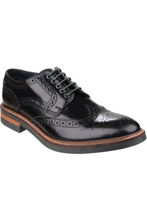 Base London Woburn Hi-Shine Lace Up Brogue Shoe