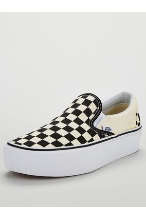 Vans Women Platforms - Classic Checkerboard Slip-On Platform - Monochrome