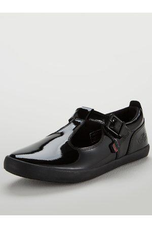 Kickers Kariko T Bar Flat Shoes - Black
