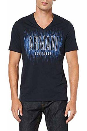 Armani Men's V Neck Logo T-Shirt