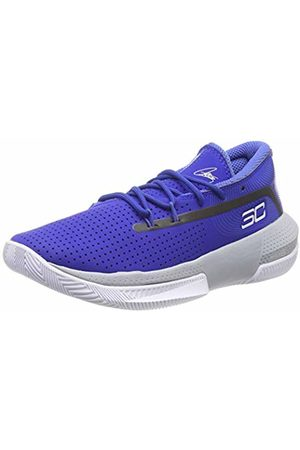 Under Armour Unisex Kid's Grade School SC 3ZER0 III Basketball Shoes, (Royal/Mod Gray/ 400)