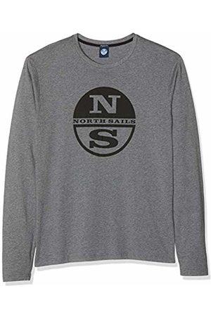 North Sails Men's T-Shirt L/s W/Logo Kniited Tank Top, (Medium Melange 0928)