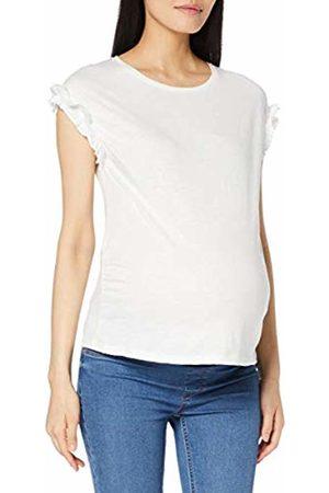 Dorothy Perkins Women's SLUB Ruffle Sleeve TEE Maternity T - Shirt, Off- Off- (Ivory 822)