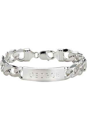 The Love Silver Collection Sterling Mens Id Bracelet