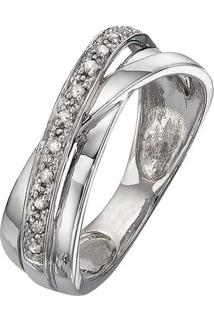 Love Diamond 9 Carat 8 Point Diamond Crossover Band Ring