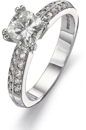 Moissanite 18 Carat 100Pt Equivalent Cushion Cut Ring