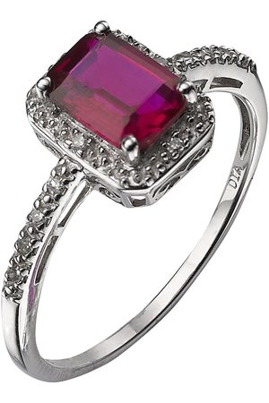 Love GEM 9 Carat 6 Point Diamond And Ruby Ring