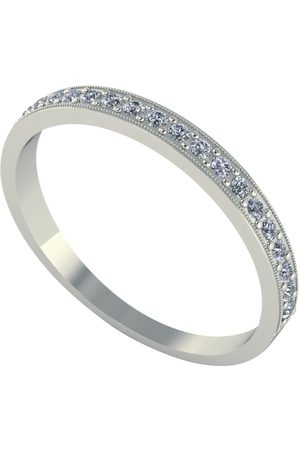 Moissanite 18 Carat 25Pt Wedding Band