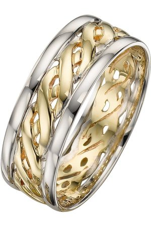 Love GOLD 9 Carat 2 Colour Celtic Wedding Band 7Mm