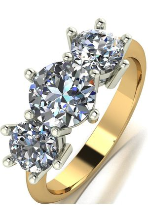 Moissanite 9Ct 2.5 Carat Eq Square Trilogy Ring
