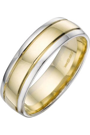 Love GOLD 9 Carat 2 Colour Wedding Band 6Mm