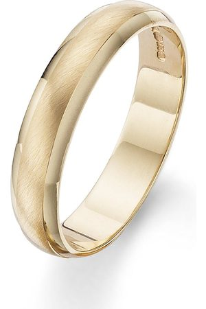 Love GOLD 9 Carat 4Mm Matt And Polished Wedding Band