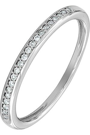 Love Diamond 9Ct White Gold 8 Point Diamond Wedding Band
