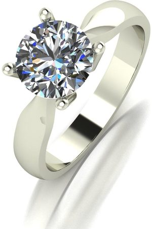 Moissanite Rings - 9Ct 1.5Ct Equivalant Solitaire Ring