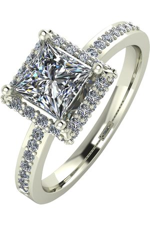Moissanite Rings - 9Ct Gold 1.55 Carat Square Solitaire Ring