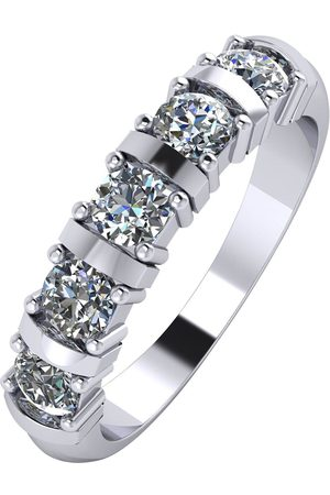 Moissanite 1Ct 5 Stone Eternity Ring