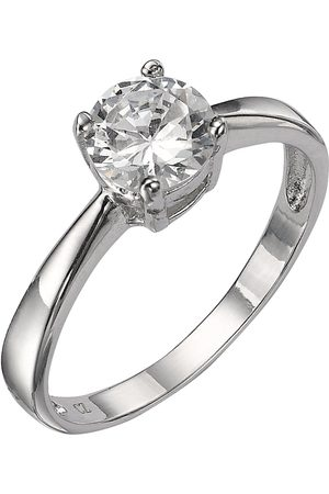 The Love Silver Collection Sterling Cubic Zirconia Solitaire Dress Ring