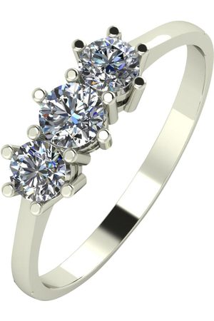 Moissanite 9Ct Gold 1/2 Carat Eq Trilogy Ring