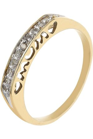 Love GOLD 9 Carat Diamond Set Mum Heart Ring