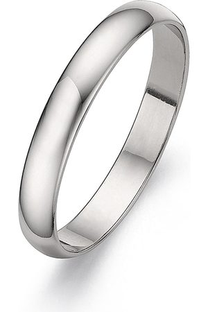 Love GOLD Platinum D-Shaped Wedding Band - 3 Mm