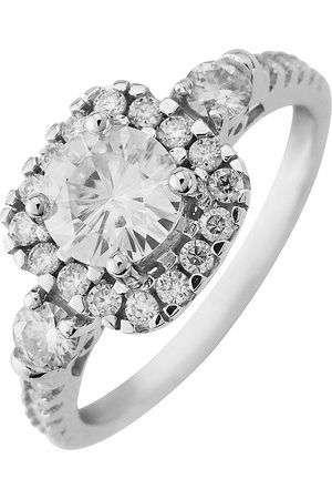 Moissanite 9Ct Gold 6Mm Centre 1.33Ct Total Vintage Style Ring