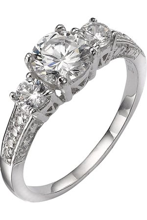 The Love Silver Collection Sterling Cubic Zirconia Trilogy Dress Ring