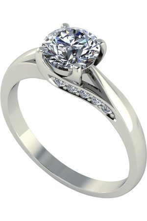 Moissanite 18 Carat 1.1 Carat Brilliant Solitaire Ring With Stone Set Mount