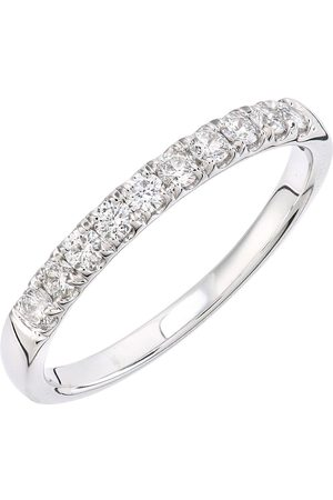 Love Diamond 9Ct White Gold 33 Point Micro Setting Eternity Ring
