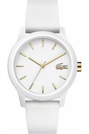 Lacoste White And Gold Detail Dial White Silicone Strap Ladies Watch