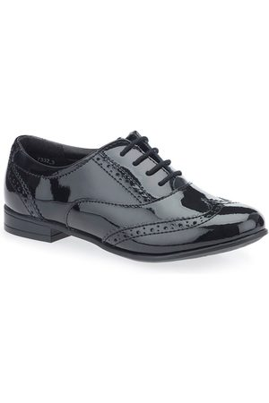 Start Rite Matilda Older Girls Patent Brogue Shoe - Black