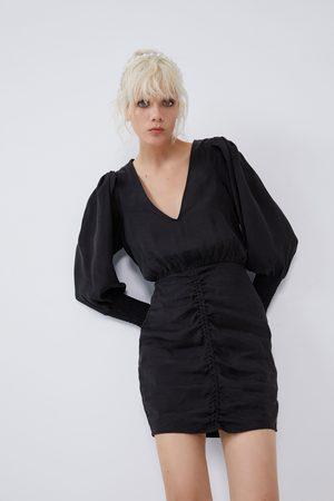Zara Voluminous shirred dress