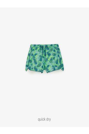 Zara Kids Swim Shorts - Leaf print bermuda swim shorts