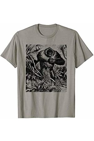 The New Antique Jungle Gorilla Monkey Print T-Shirt