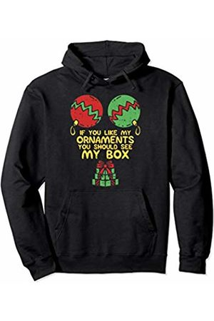 BoredKoalas Adult Christmas If You Like My Ornaments Woman Pullover Hoodie