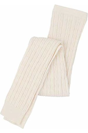 Hatley Girl's Cream Cable Knit Tights Sports Leggings