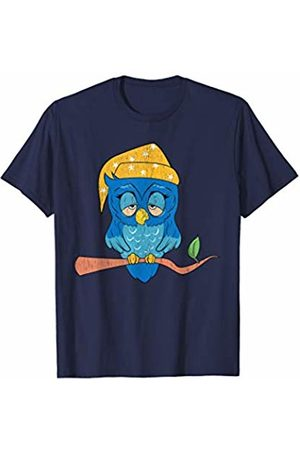 CUTE SLEEP NIGHT LOUNGE WEAR PJS GIFT SHIRTS Funny Sleepy Night Owl Pjs pajamas for Owl Lovers & Owners