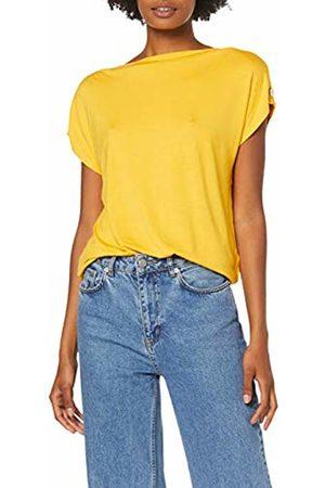 Dorothy Perkins Women's Button Shoulder Boat Neck Ochre T-Shirt, 430