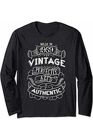 CuteComfy 1959 Birthday Gifts For Men Women 60th Birthday Signboard Long Sleeve T-Shirt
