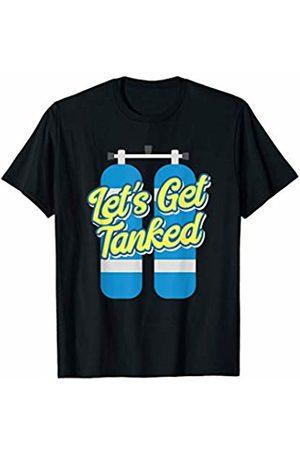 Uinta Trading Scuba Tees Scuba Diving Let's Get Tanked Dive Tank Scuba Diver T-Shirt