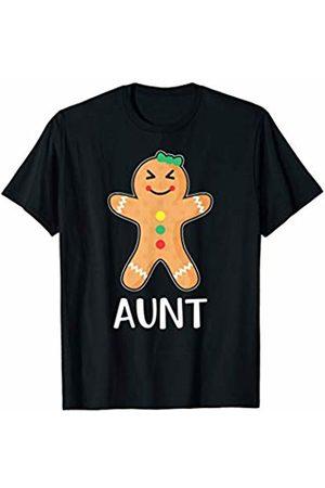Gingerbread Family Matching Shirts Gingerbread Man Aunt T-Shirt Family Halloween Xmas Pajamas