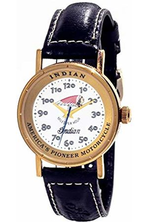 INDIAN Unisex Adult Analogue Quartz Watch with Leather Strap ID-IRON-REDSKIN-B02
